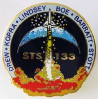 133- NASA STS-133 Official Space Mission Pin (with Tim Kopra)